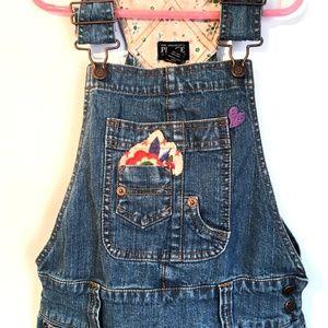 Children's Place Dresses - Children's Place Denim Overall Jumper Dress 8